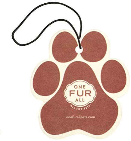 Pet House Car Air Freshener by One Fur All, Pack of 4 – Apple Cider - Non-Toxic Auto Air Freshener, Pet Odor Eliminating Air Freshener for Car, Ideal for Small Spaces, Dye Free Dog Car Air Freshener