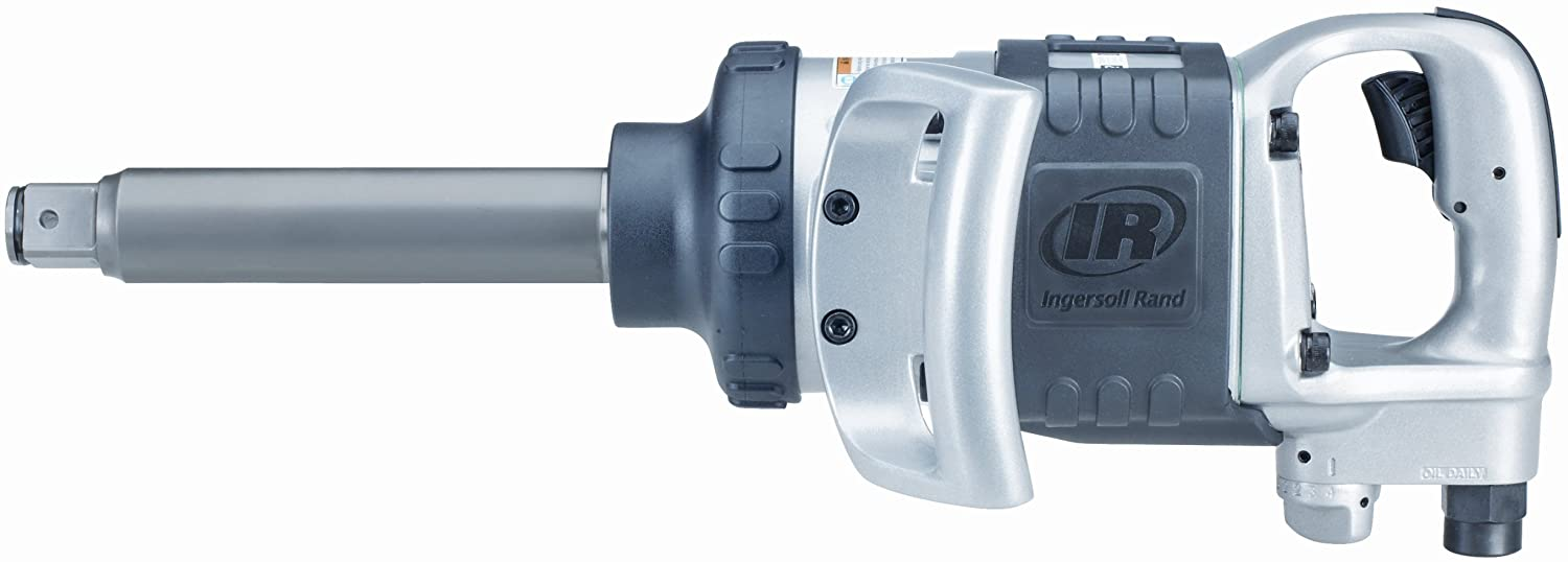 Ingersoll Rand 285B-6 Heavy Duty Pneumatic Impact Wrench with 6-Inch Extended Anvil, 1 Inch