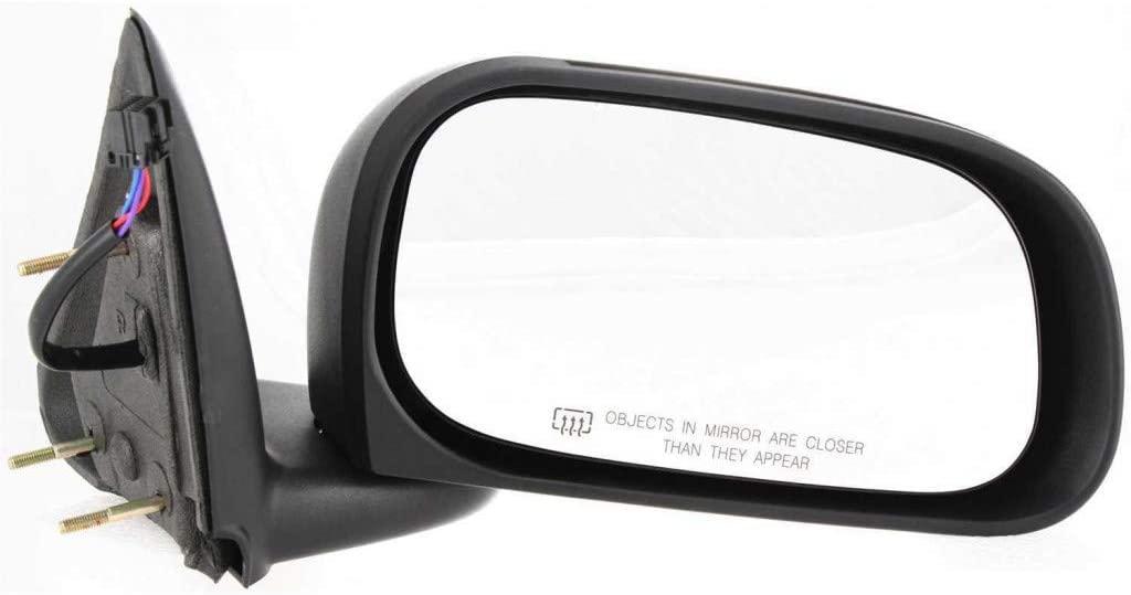 For Dodge Dakota Mirror 2005 06 07 08 09 2010 Passenger Side Manual Folding | Power | Heated | 6 x 9 in. | Textured Black CH1321237 | 55077624AI