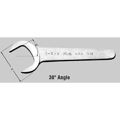 Chrome Service Wrench 30 Deg Angle - 1-3/4 In