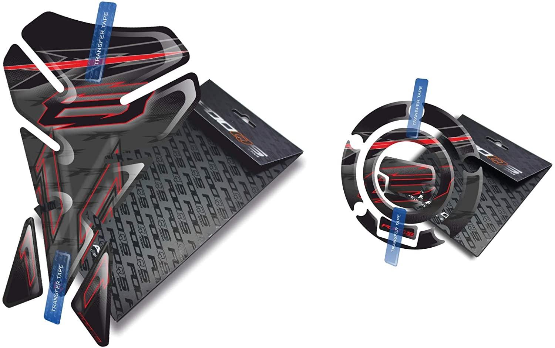 Tankpad and Cappad V1 for Yamaha Fz8 Fz8n Fz8s Fazer (Black)