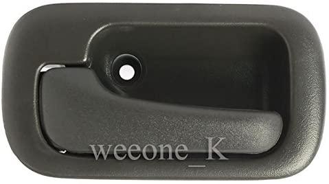 K1AutoParts 1 Left Side Interior Inner Inside Door Handle + Bowl Trim Bezel For Honda Civic 1992 1993 1994 1995