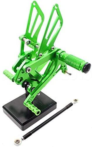 Frames & Fittings CNC Motorcycle Rearset Foot Pegs Footpeg Rear Sets Brake Shift Lever for Kawasaki Ninja ZX6R ZX636 2000 2001 2002 ZX9R 1999-2003 - (Color: Green)