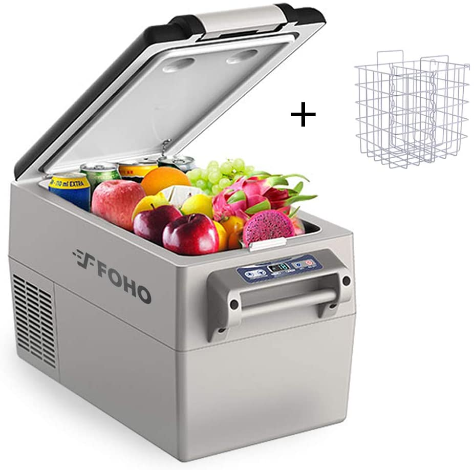 Car Freezer, Portable Car Refrigerator 34 Quart, -4°F to 50°F Compressor Compact 12V/24V Cooler Fridge for Car, Vehicle, Truck, Camping, Boat for Driving, Travel, Fishing, Outdoor or Home Use