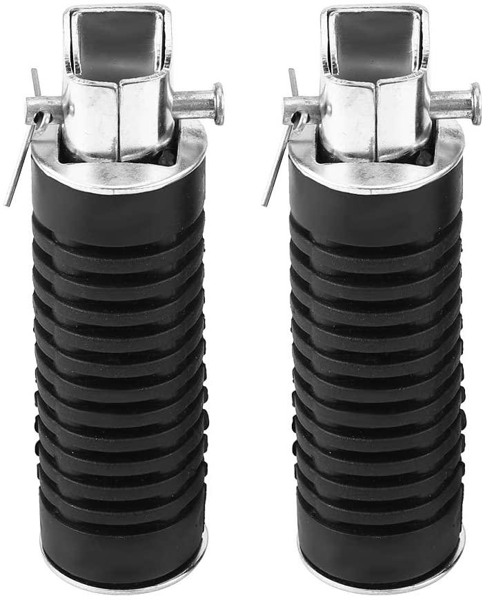 Senyar Pair of Motorcycle Foot Pegs,ABS + Iron Motorbike Footrest Pedals(Black)
