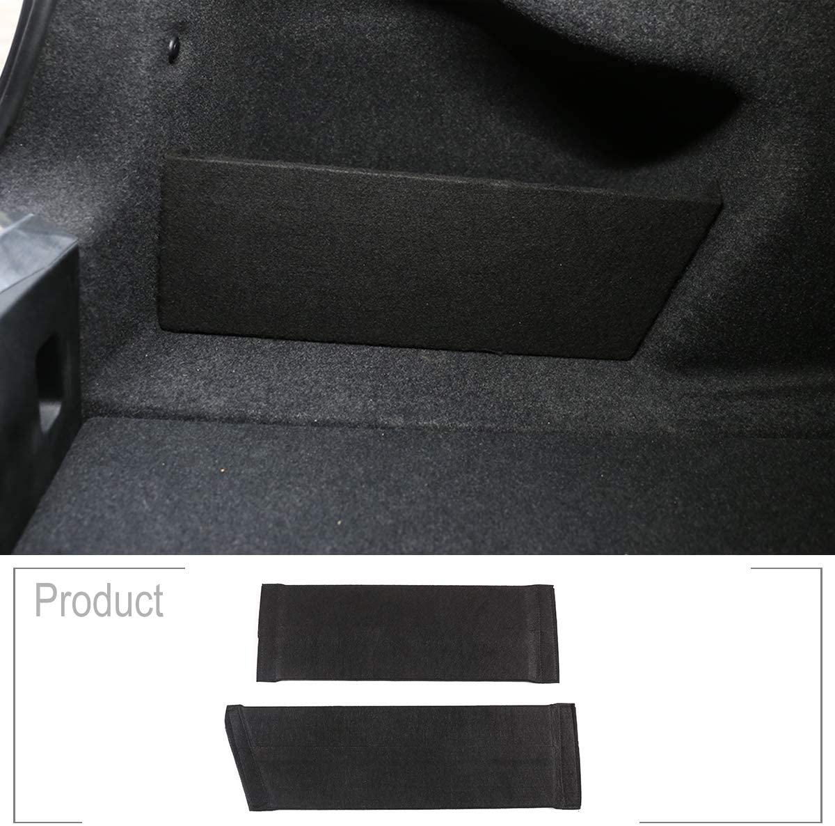 TongSheng for BMW 3 Series G20 G28 320li 325li 2020 Flannel Material Black Inner Rear Trunk Box Compartment Panel Trunk Organizers Automobile 2pcs/Set