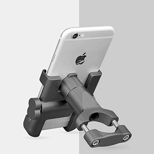 WXL Electronics Universal Bicycle Phone Holder for Bike Motorcycle Electric Bicycle Mobile Smartphone Holder Support for Bike Rack Mount Stand Electrical Device Mounts (Color : C1 Titanium)