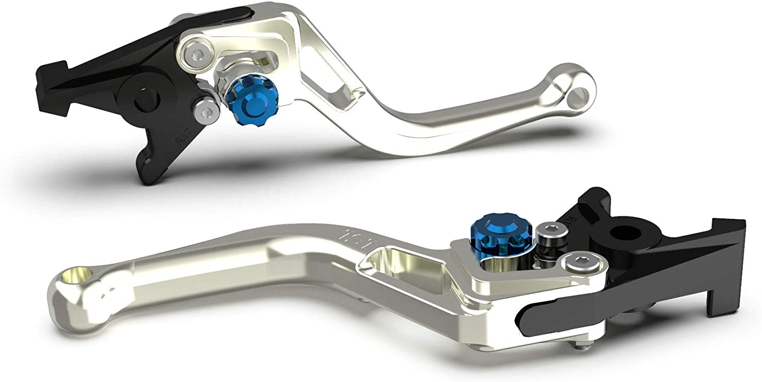 Motorize LSL Clutch Lever Bow for Brembo 16 RCS, L37R, Short, Silver/Blue