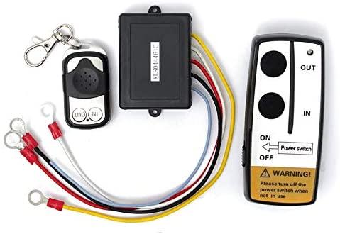 Calvas Good quality 12V 50ft Wireless Winch Remote Control Set Kit With Key Fob For Truck ATV SUV Auto Winch