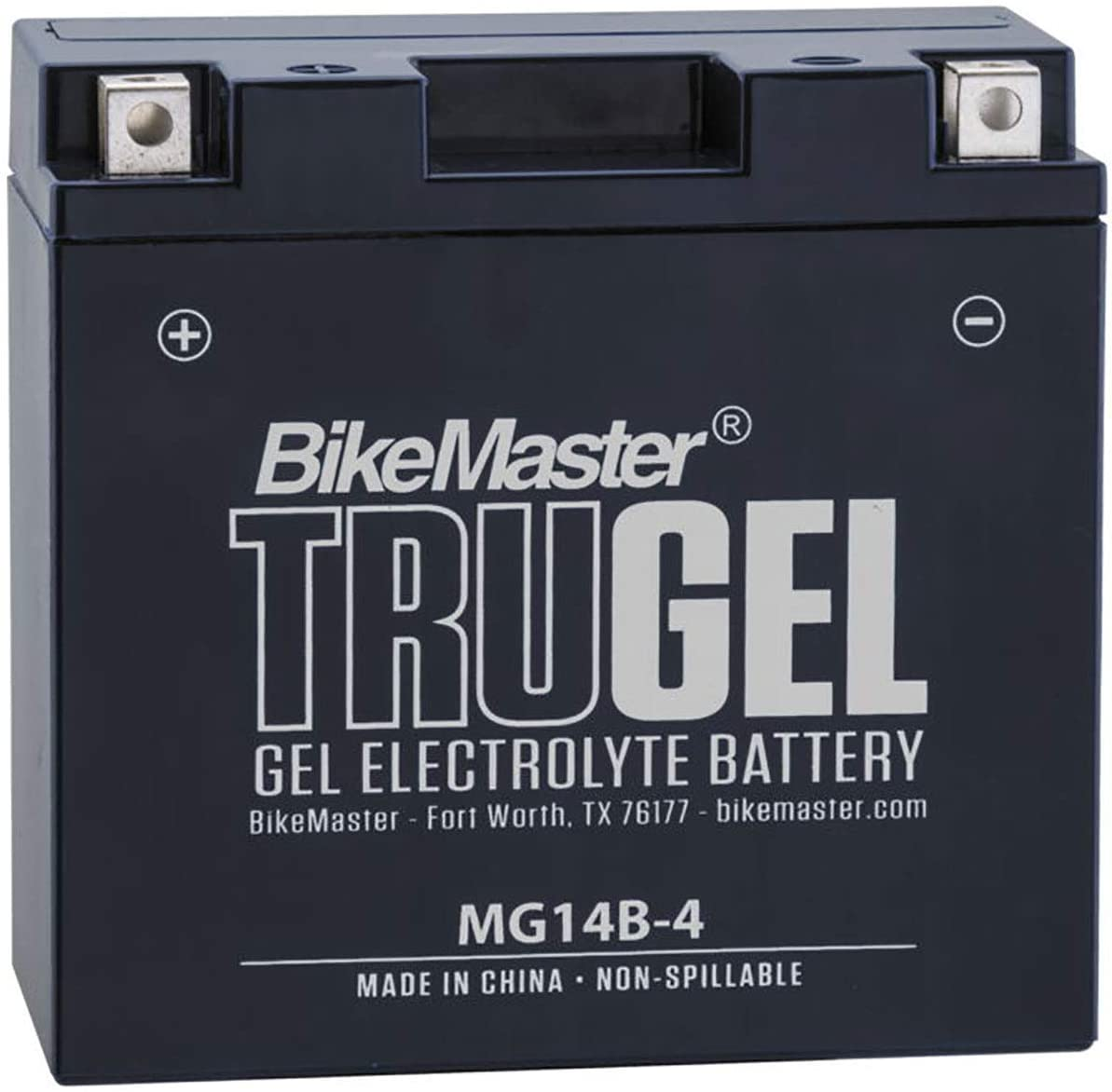 BikeMaster MG14B-4 TruGel Motorcycle Battery - 150L x 69W x 145H mm