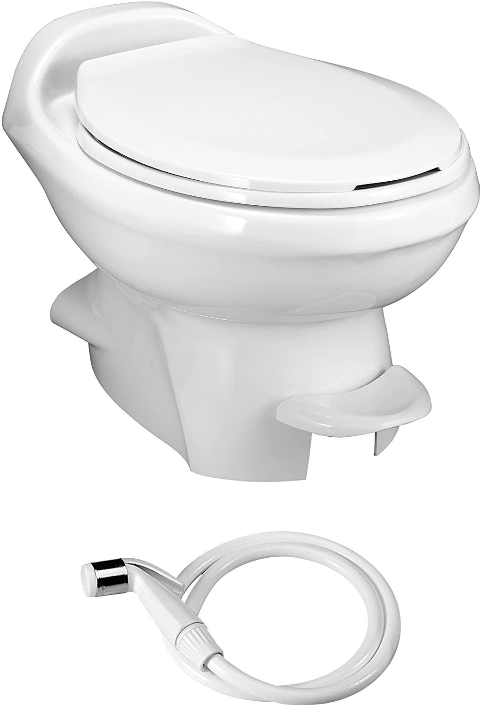 Aqua Magic Style Plus RV Toilet with Water Saver / Low Profile / White - Thetford 34434
