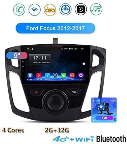 HBWZ GPS Navigation Radio for Ford Focus 2012-2017 Double Din Car Stereo 9