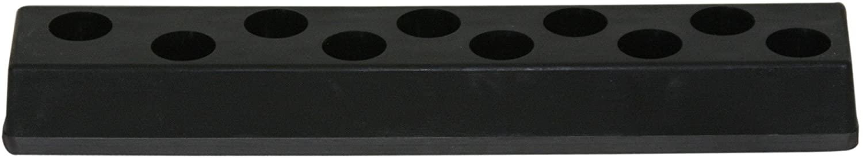 MTS 488 10 Hole 1/4 Impact Socket Holder w/Magnetic Back Black