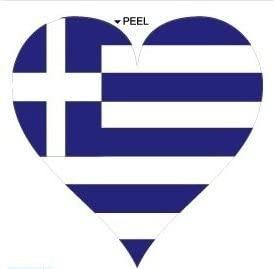 Greece Greek Flag Heart - Window Bumper Laptop Sticker