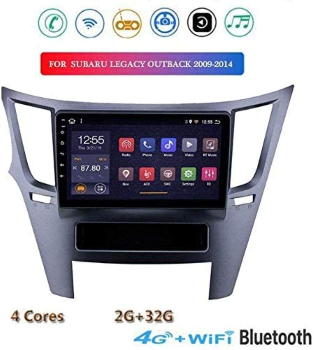 gaoweipeng Android 8.1 Car Audio for Subaru Legacy Outback 2009 to 2014 Car Stereo 9 inch Touch Screen GPS Navigation Mirror Link 2 Din FM DAB + MP5 AUX SWC