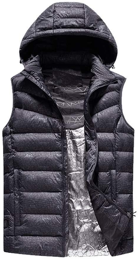 Men's Autumn and Winter Electric Heated Vest Size Adjustable USB Interface 3 Modes Washable (Not Including Power Supply) 0321 (Size : XXX-Large)