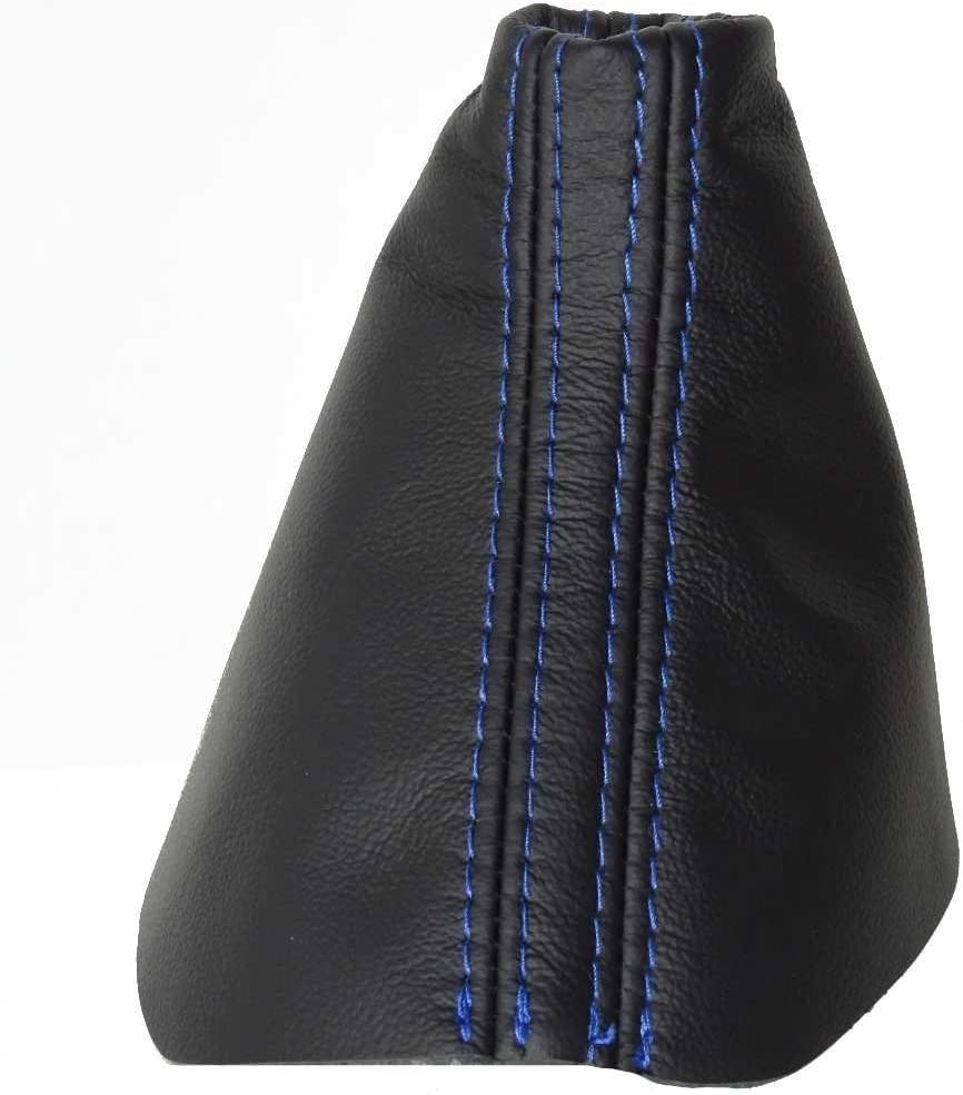 The Tuning-Shop Ltd Automatic Shift Boot Black Leather with Blue Stitching