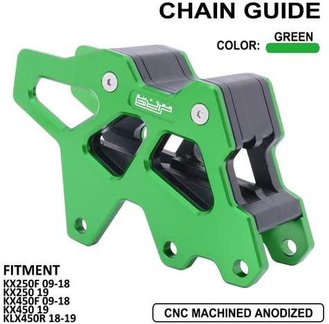 JFG RACING CNC Rear Aluminum Green Chain Guide Guard For KAWASAKI KX250F KX450F 09-16 Dirt Bike