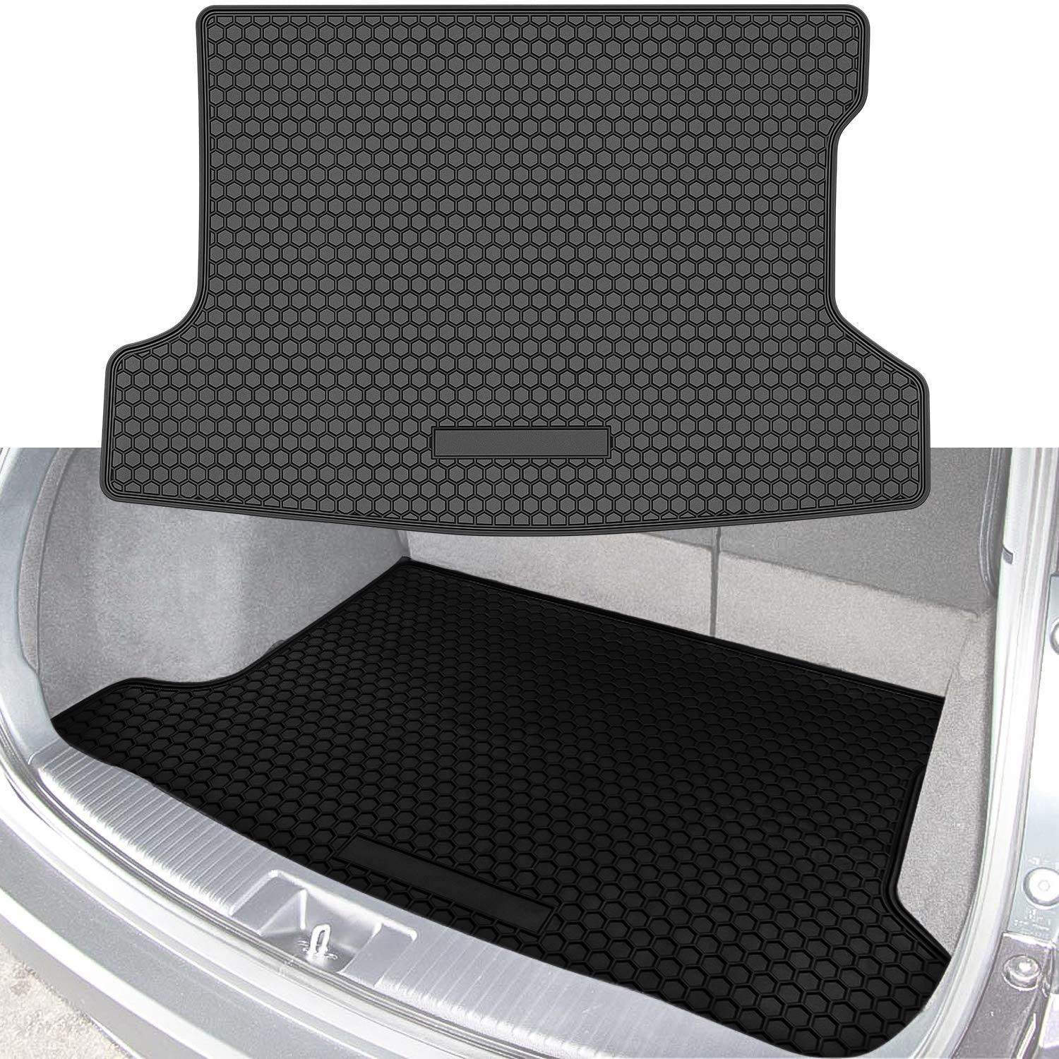 Bonbo Trunk Cargo Liner Mat for Honda HRV HR-V 2014-2020 Custom Fit Cargo Cover Heavy Duty & Eco-Friendly Rubber All Weather Guard