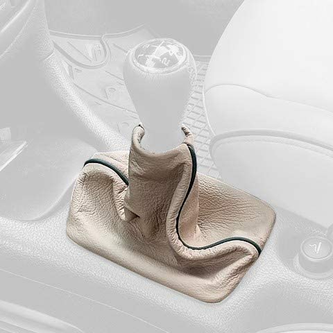 RedlineGoods Shift Boot Compatible with Peugeot 206 1998-10. Black Alcantara-Red Thread