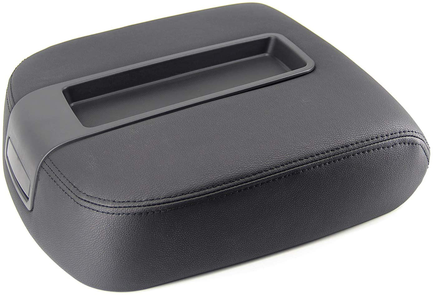FEXON Center Console Lid Cover Replacement for 2007-2013 Chevy Tahoe Silverado Suburban and GMC Yukon Sierra 1500 2500 2500HD 3500HD Avalanche 15217111 924-875 Black
