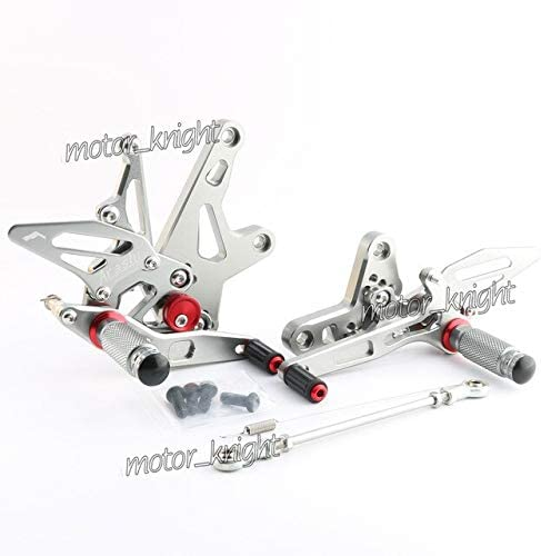 Frames & Fittings Motorcycle Accessories CNC Aluminum Alloy Rear Sets Rearset Footrest Foot Rest Pegs for Kawasaki Ninja400 zx-r400 2018 - (Color: Gray)