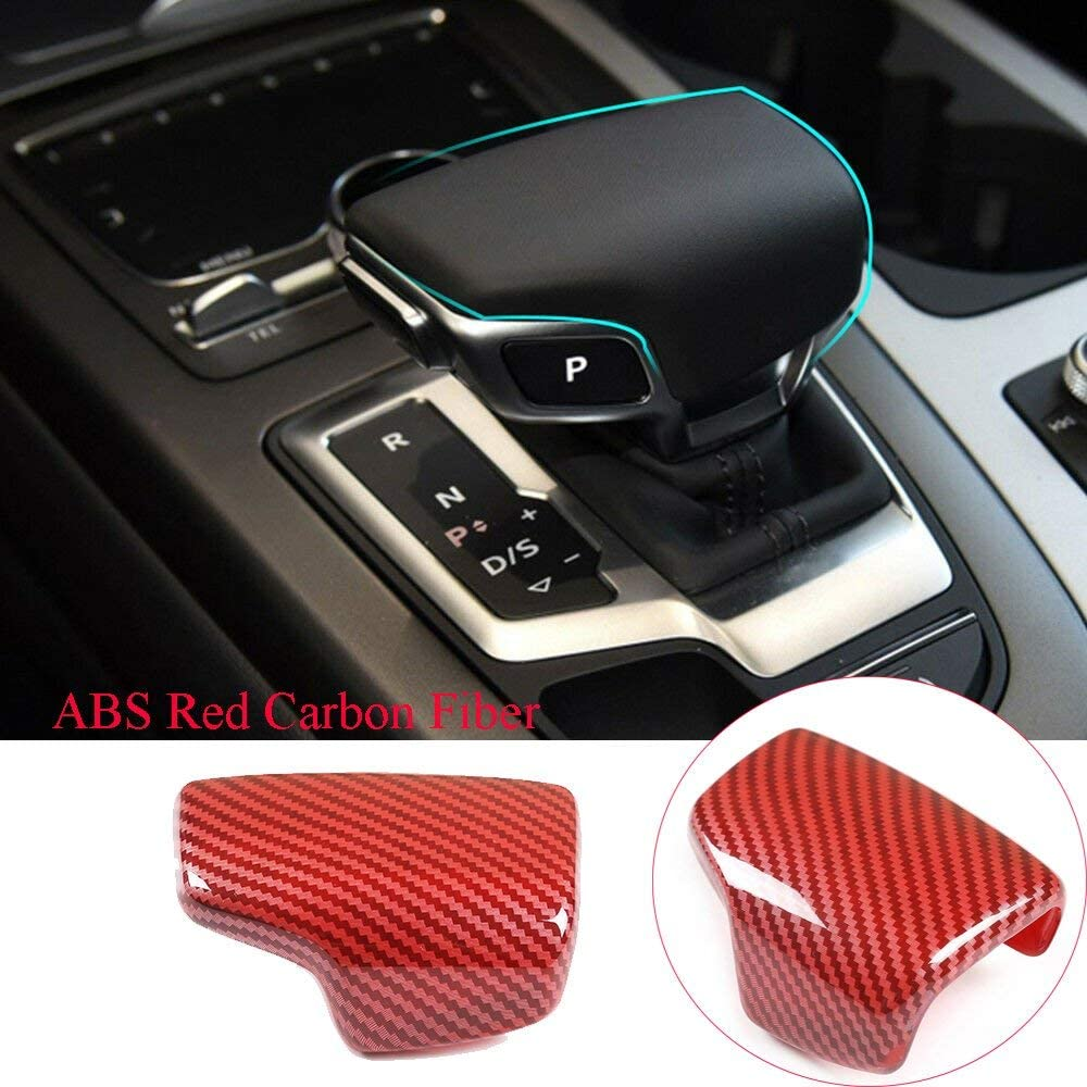 ABS Car Gear Shift Knob Cover Kit for Audi A4 A5 Q7 Q5 S4 S5 2016-2020 Left Hand Drive