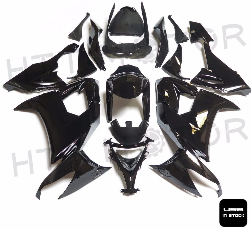 HTTMT K1009- Black INJECTION Fairing Kit Compatible with Kawasaki ZX-10R 2009 2008-2010 004 VV
