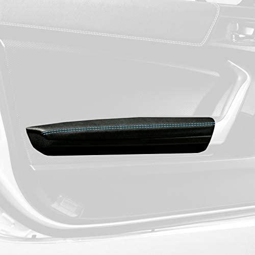 RedlineGoods Door armrest Covers Compatible with Scion FR-S 2012-16. Black Alcantara-Blue Thread