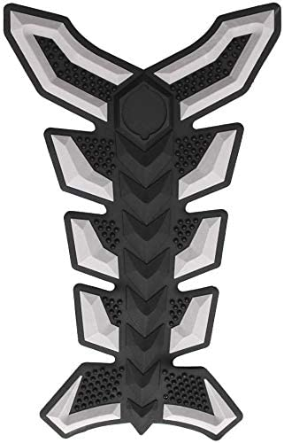 JIANXING Durable Stylish Universal Motorcycle 3D Rubber Gas Oil Fuel Tank Pad Protector Decal Sticker,Colour Name: Easy to Install (Color : Grey)