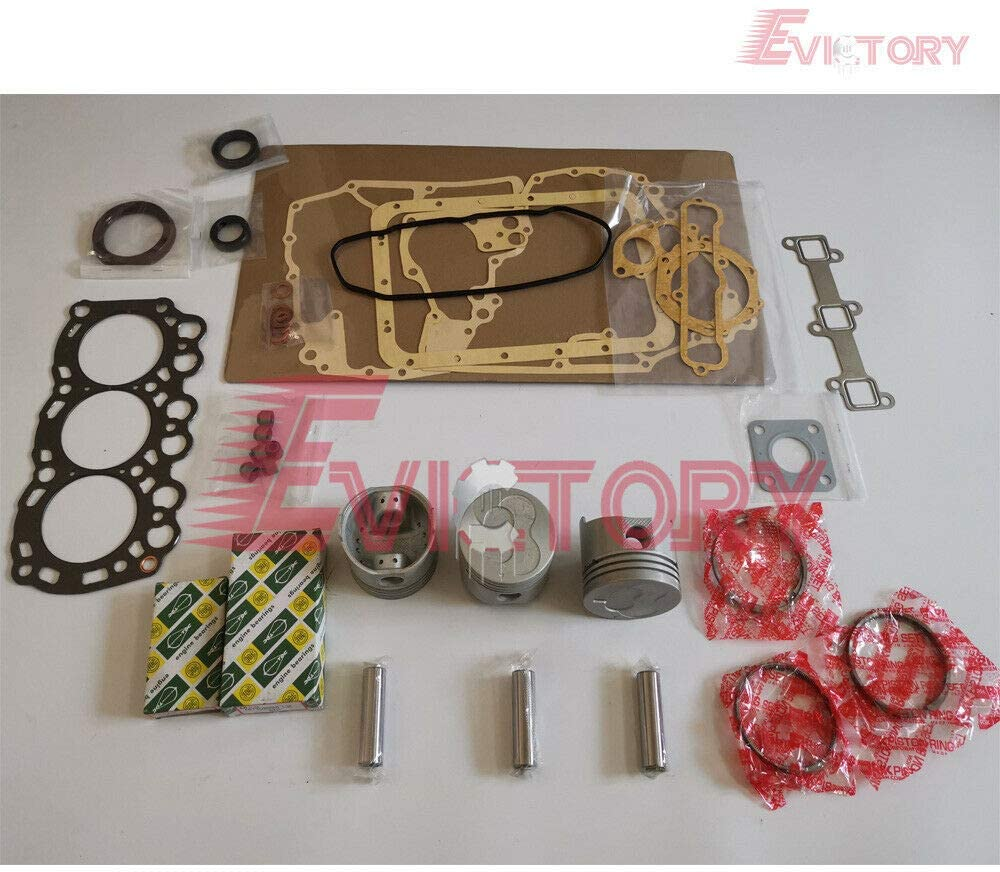 L3C Rebuild kit Piston Ring + Cylinder Head Gasket + Bearing