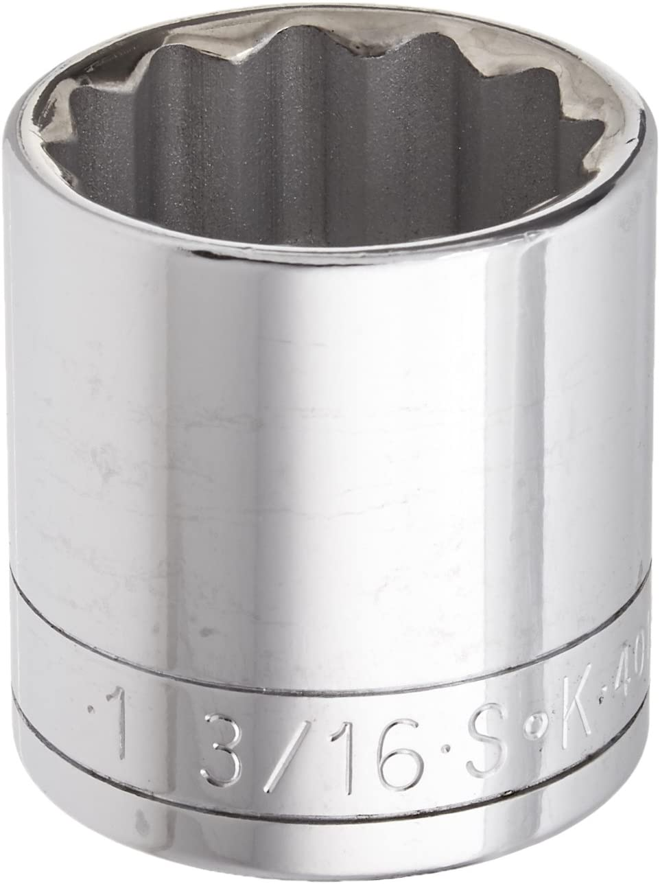 SK Hand Tool 40138 Socket Chrome 1/2-Inch Standard Drive, 12 Point, 1-3/16-Inch