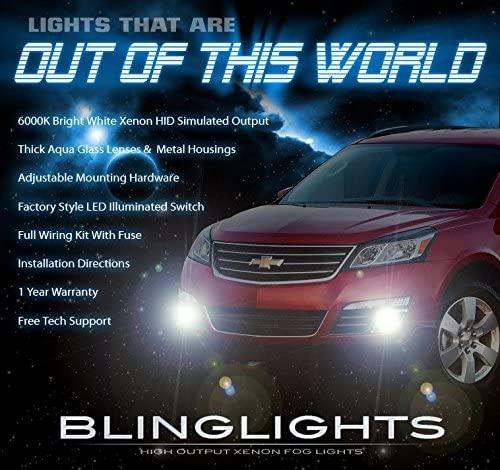 BlingLights Fog Lights Kit for 2013 2014 2015 2016 2017 Chevy Traverse
