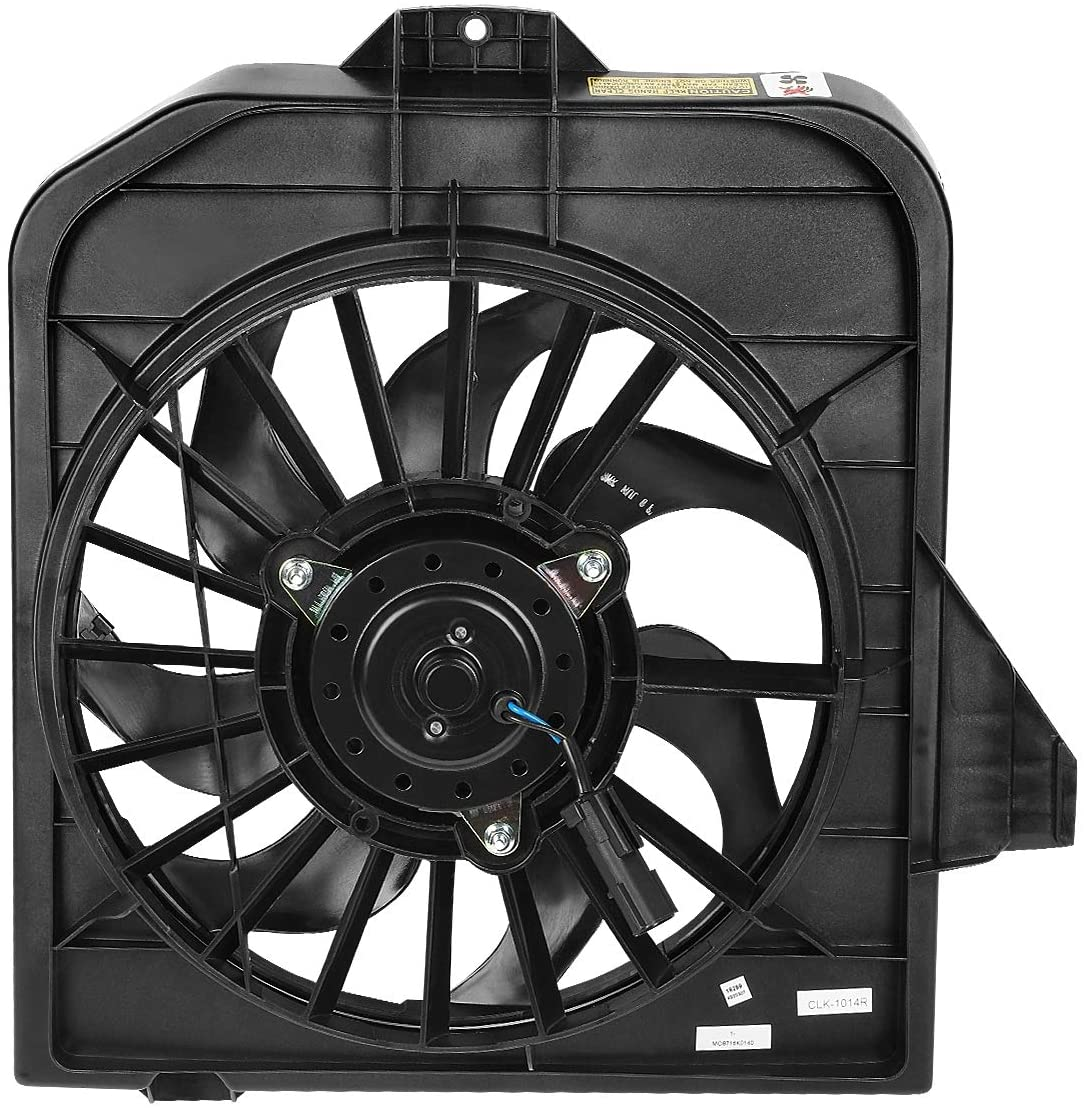 DNA Motoring OEM-RF-0073 CH3113102 Factory Style AC Condenser Cooling Fan Replacement