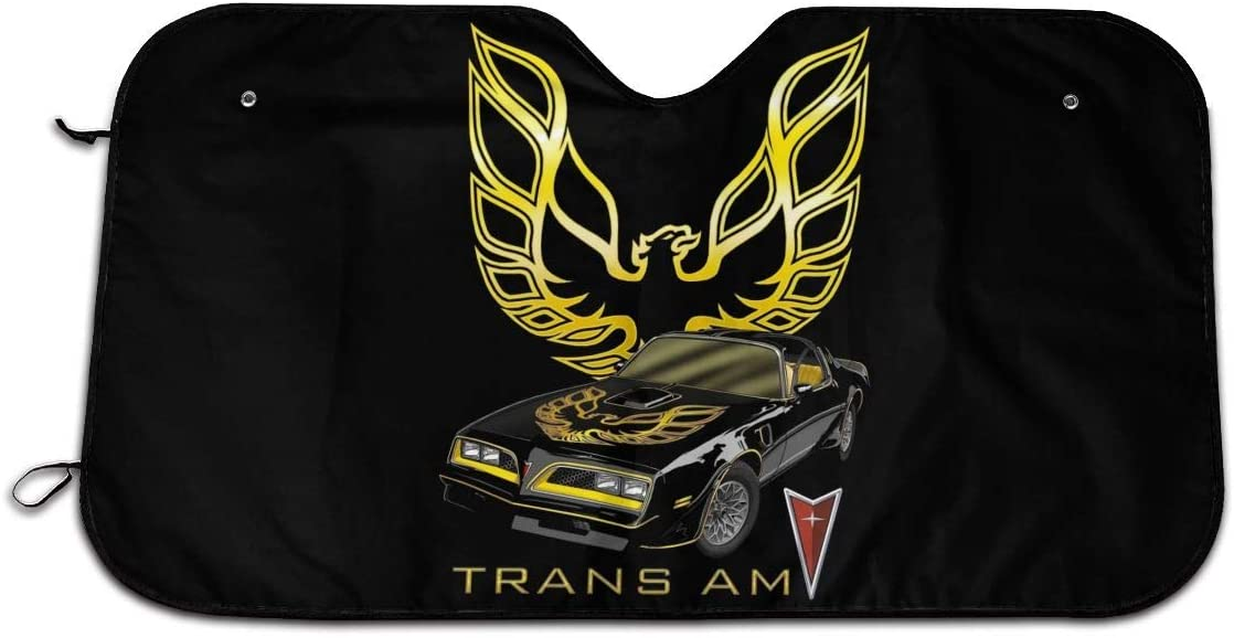 5husihai Trans Am Car Windshield Sunshade Uv Protection Car Sunshade 27.5†X 51†Inches