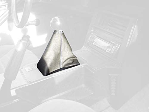 RedlineGoods bota/funda para palanca de cambios Compatible with Pontiac Firehawk 1982-92. Alcantara Negra Costura Azul