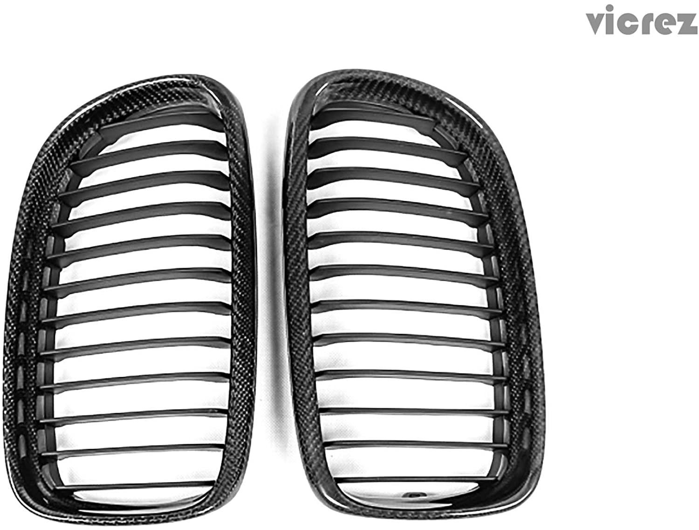 Vicrez BMW 3 Series E90 E91 2009-2011 Carbon Fiber Kidney Grille - vz100385