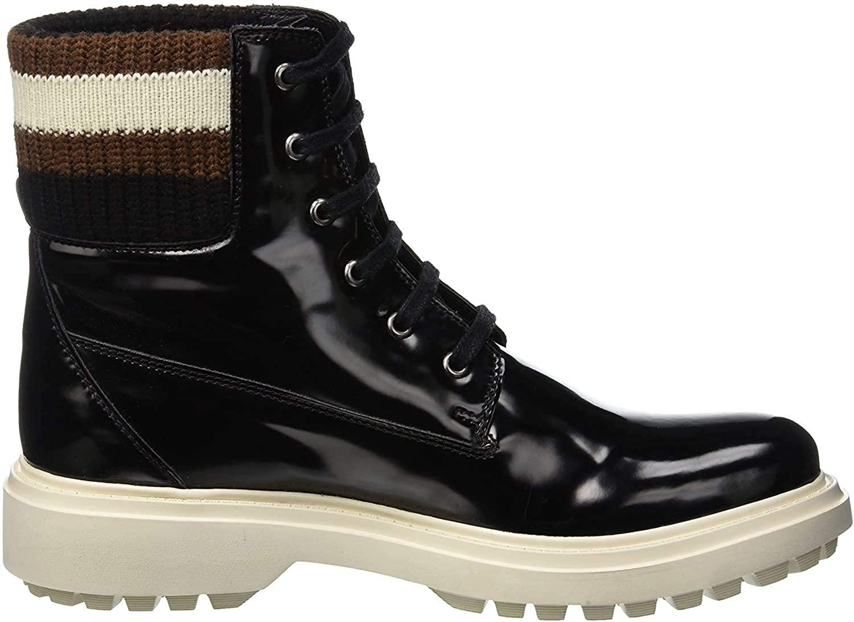 Geox Women's D Asheely B Biker Boots, (Black C9999), 2.5 UK