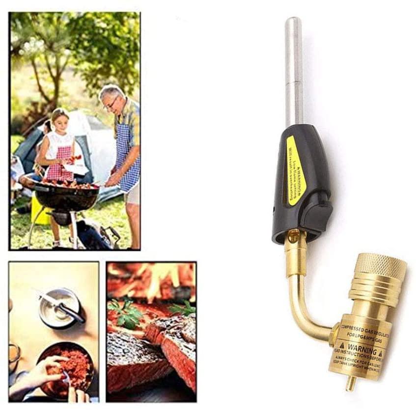 Gas Self Ignition Plumbing Turbo Torch Brazing Soldering Propane Welder Plumbing Tool Adjustable Flame