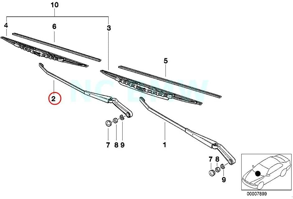 BMW Genuine Wiper Arm Right