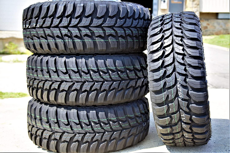 Set of 4 (FOUR) Crosswind M/T Mud-Terrain Radial Tires-33X12.50R20 LT 114Q LRE 10-Ply