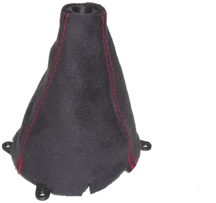 Shift Boot Suede Red Stitching with Plastic Frame and Plastic Top Ring