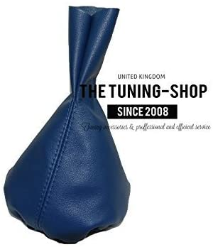 The Tuning-Shop Ltd For Porsche 944 1985-1991 Manual Shift Boot Blue Italian Leather