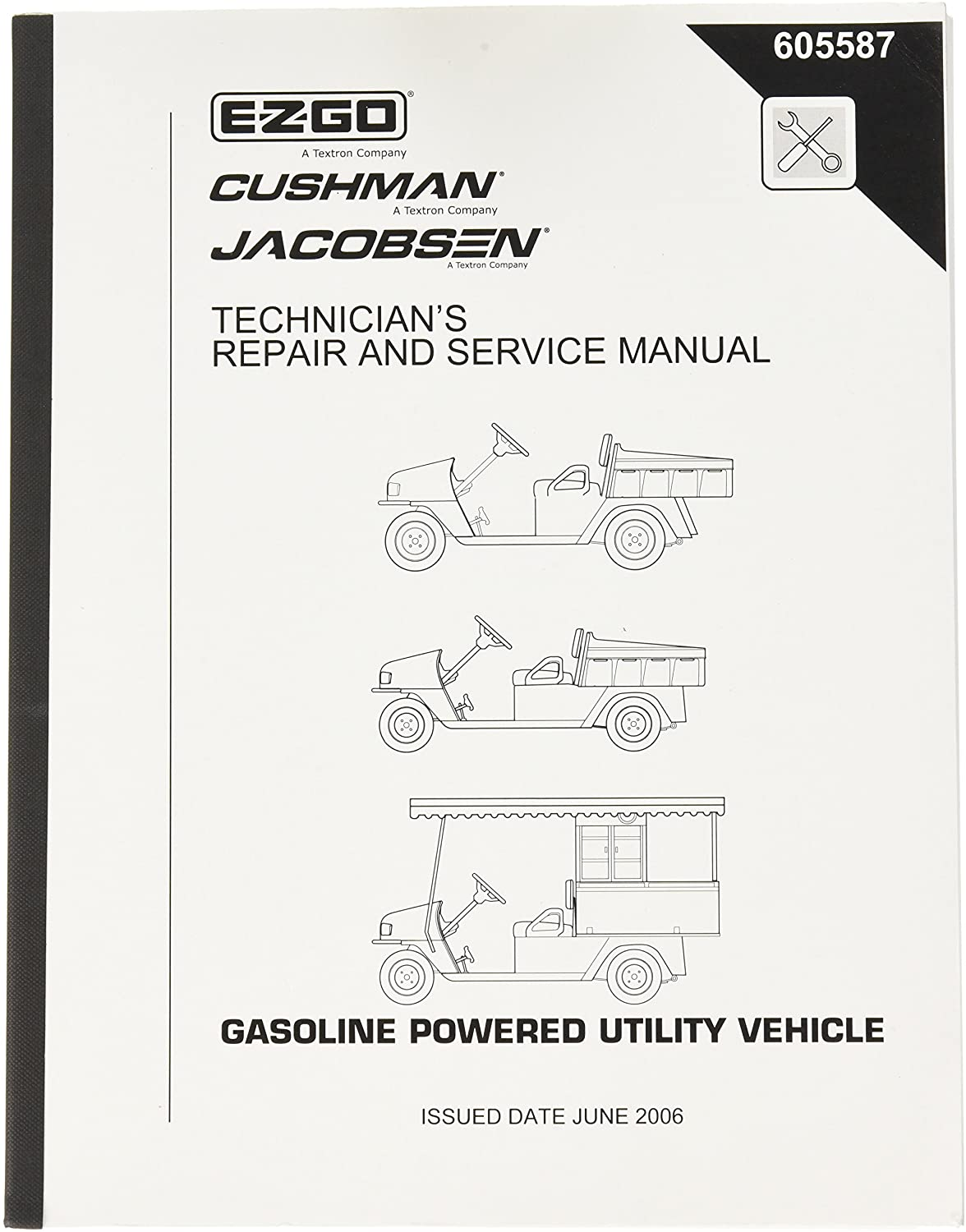 EZGO 605587 2006 Current Technician's Repair Manual for MPT 800, 1200CE, CARB
