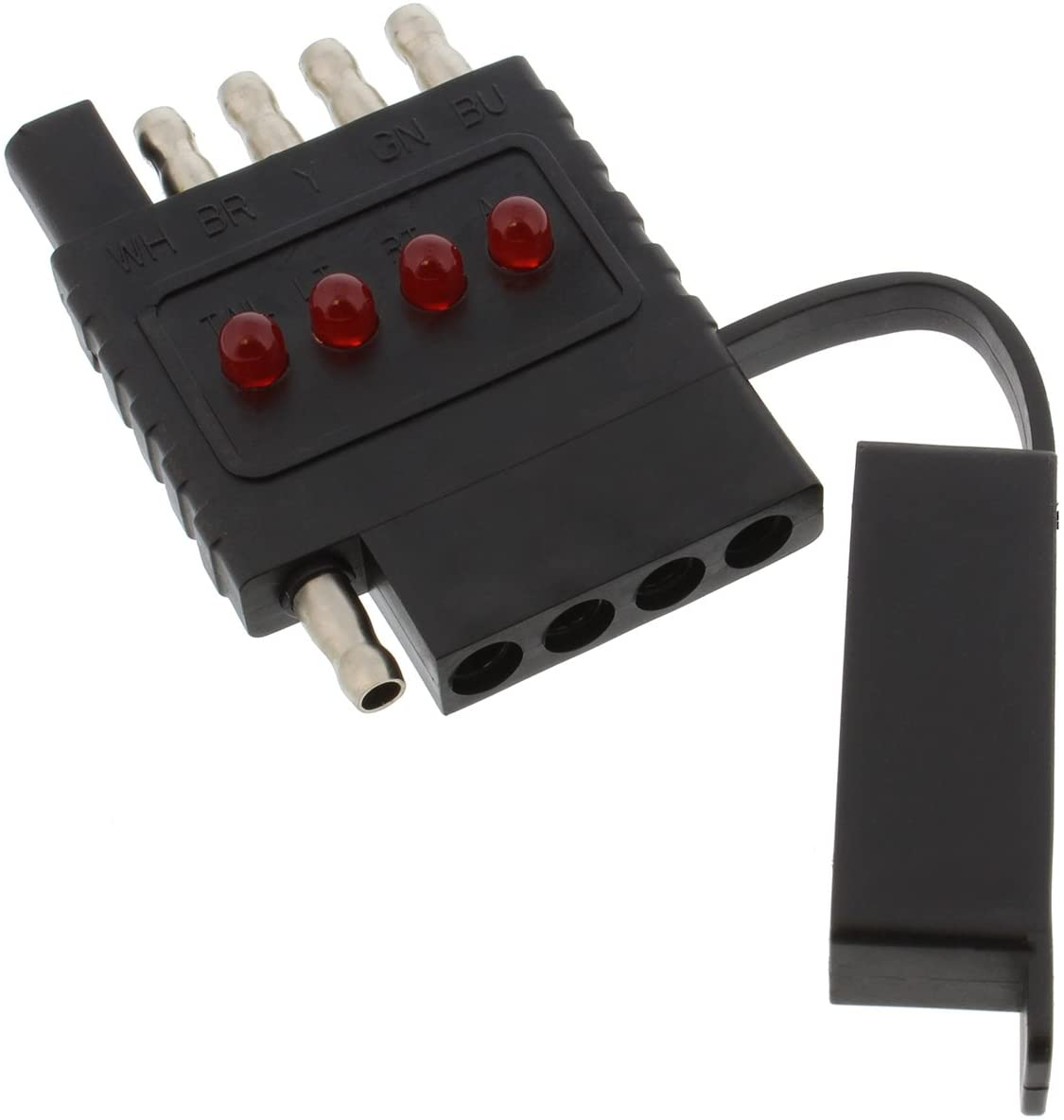 ABN 5 Way Trailer Light Inline Circuit Tester – 12V with LED Output for Quick and Easy Results