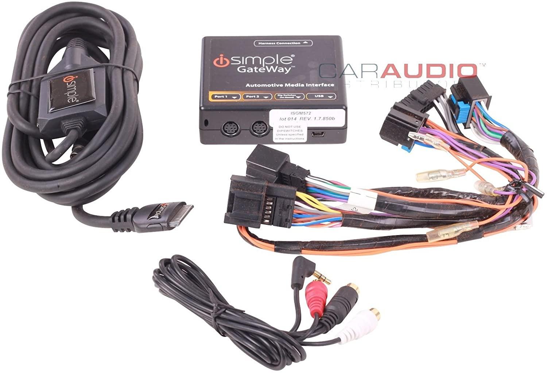 iSimple ISGM572 Gateway Automotive Audio Input Interface Kit for 2006-10 GM 11-Bit Vehicles