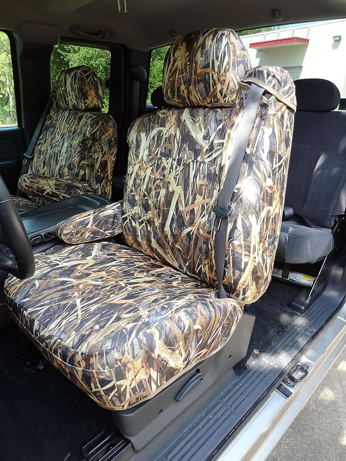 1999-2002 Chevy Silverado, Suburban, Tahoe, GMC Sierra,Yukon Front Bucket Exact Fit Seat Covers, in Savanna Camo Endura
