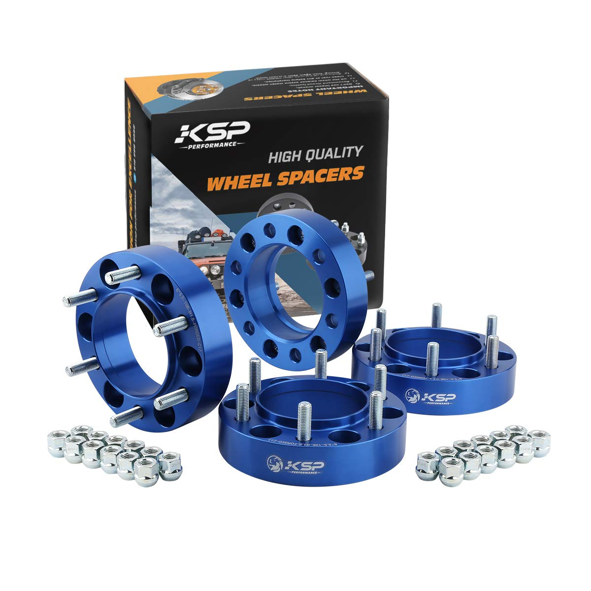 KSP 6X5.5 Wheel Spacers Fit for Tacoma 4runner, 1.5 inches Forged Hub Centric Adapters Kits fit 6 Lug Wheel (Package of 4), 2 Years Warranty (B07DLX519N)