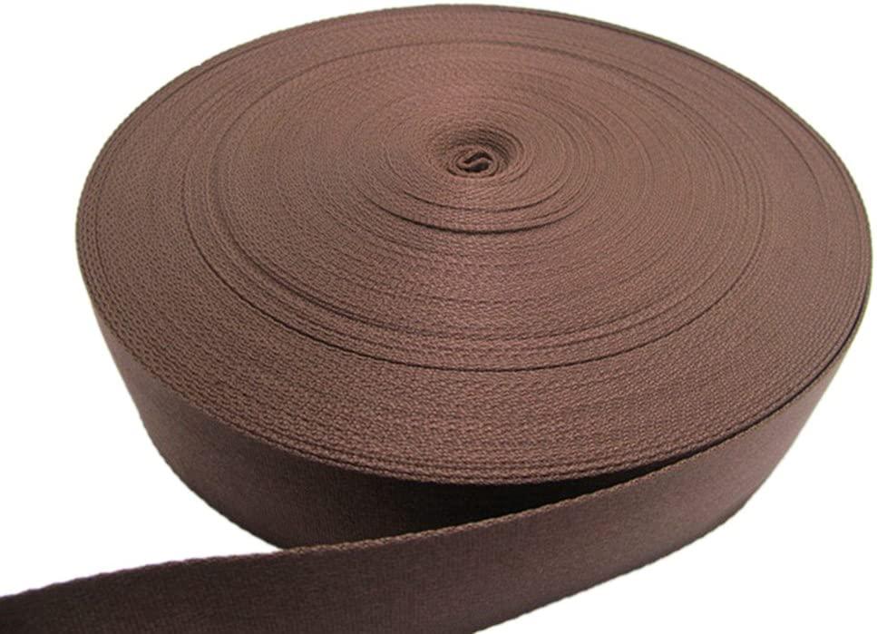 Itemship 1-5cm Multisizes Optional Travel Packing Polyester Webbing (3.2cm, Brown)