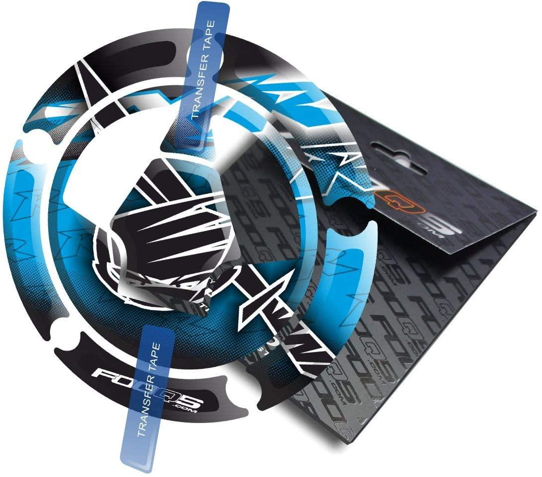 Fooqs Cappad for Kawasaki ZX ZX6r ZX 6R 6 r ZX7r 7R 7 ZX9R 9R 9 ZX10R 10R 10 (Blue)